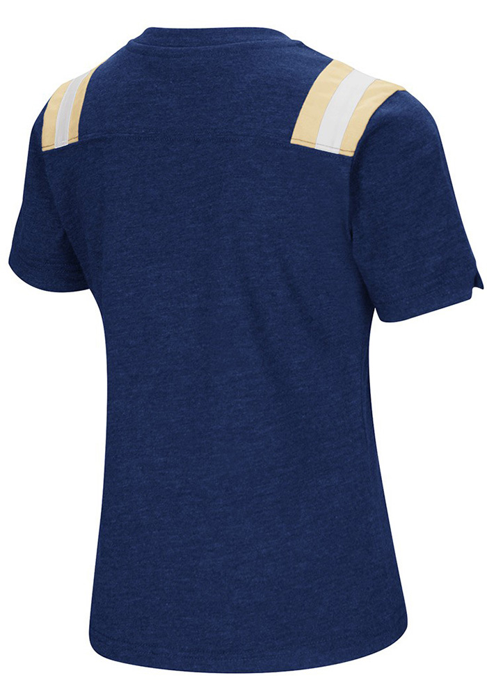 Colosseum Pitt Panthers Girls Navy Blue Rugby Short Sleeve Fashion T-Shirt - Image 2
