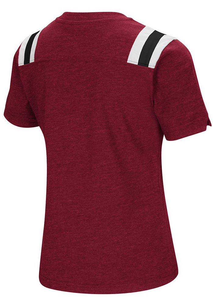 Colosseum Temple Owls Girls Cardinal Rugby Short Sleeve Fashion T-Shirt - Image 2