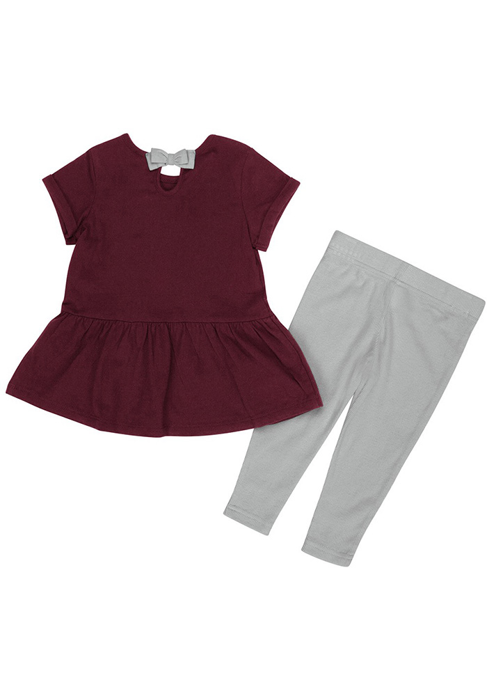 Colosseum Texas A&M Aggies Infant Girls Maroon Shot Put Set Top and Bottom - Image 2