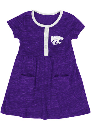 Colosseum K-State Wildcats Baby Girls Purple Triple Jump Dress