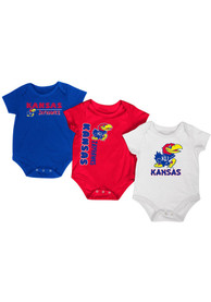 Kansas Jayhawks Baby Blue Trifecta One Piece