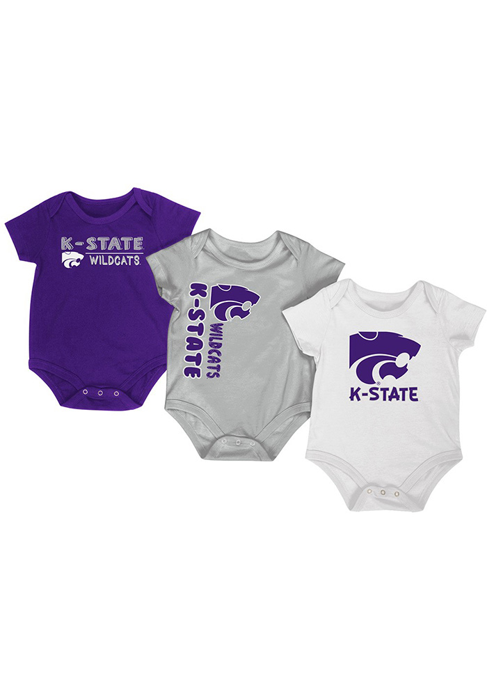 K-State Wildcats Baby Purple Trifecta One Piece - Image 1