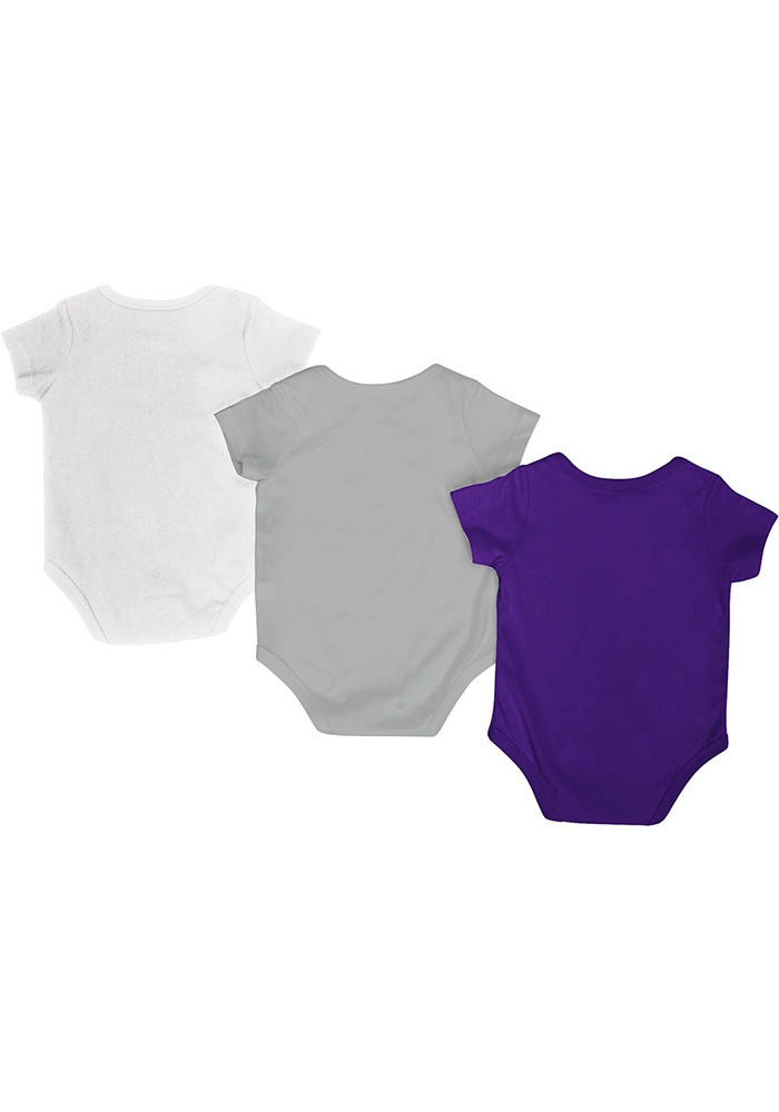 K-State Wildcats Baby Purple Trifecta One Piece - Image 2