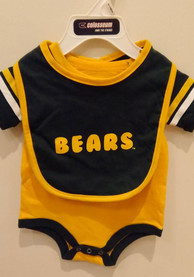Baylor Bears Baby Colosseum Roll Out One Piece with Bib - Green