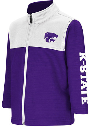 Colosseum K-State Wildcats Toddler Purple Clutch Full Full Zip Jacket