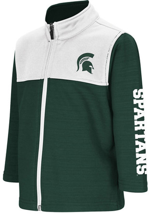Colosseum Michigan State Spartans Toddler Green Clutch Full Full Zip Jacket