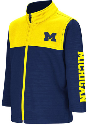 Colosseum Michigan Wolverines Toddler Navy Blue Clutch Full Full Zip Jacket