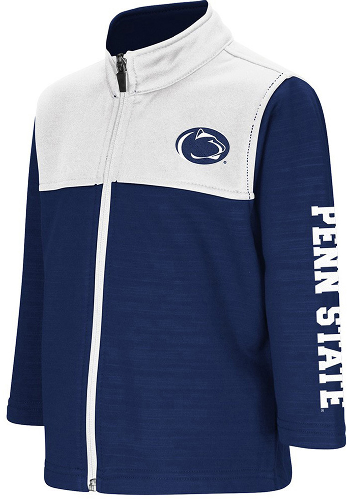 Colosseum Penn State Nittany Lions Toddler Clutch Long Sleeve Full Zip Sweatshirt - Navy Blue - Image 1