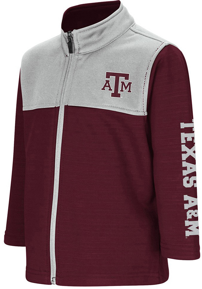 Texas A&M Aggies Toddler Colosseum Clutch Full Full Zip Sweatshirt - Maroon