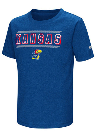 Colosseum Kansas Jayhawks Toddler Blue Closer T-Shirt