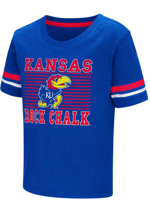 Colosseum Kansas Jayhawks Toddler Blue Qualifier T-Shirt