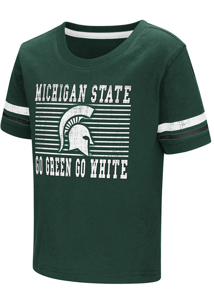 Colosseum Michigan State Spartans Toddler Green Qualifier T-Shirt