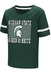 Colosseum Michigan State Spartans Toddler Green Qualifier Short Sleeve T-Shirt