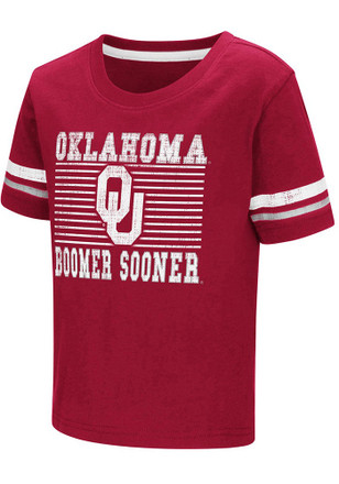 Colosseum Oklahoma Toddler Red Qualifier T-Shirt