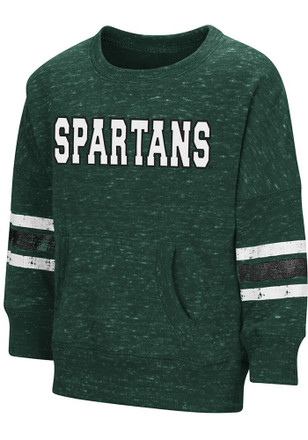 Colosseum Michigan State Spartans Toddler Green Roque Crew T Shirt
