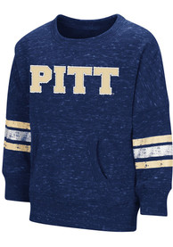 Pitt Panthers Toddler Colosseum Roque Crew T Shirt - Navy Blue