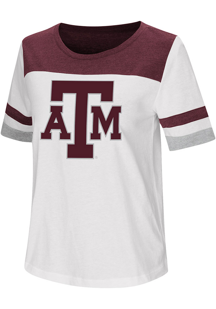 Colosseum Texas A&M Aggies Womens White Show Me The Money T-Shirt
