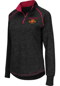 Iowa State Cyclones Womens Colosseum Bikram 1/4 Zip - Charcoal
