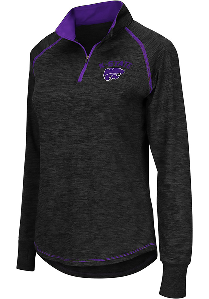 Colosseum K-State Wildcats Womens Grey Bikram 1/4 Zip Pullover - Image 1
