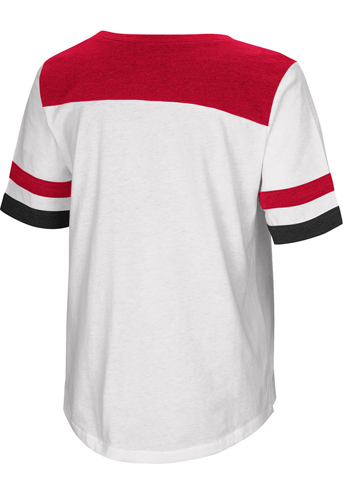 Colosseum Texas Tech Red Raiders Womens White Show Me The Money Short Sleeve T-Shirt - Image 2
