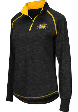 Colosseum Northern Kentucky Norse Womens Bikram Grey 1/4 Zip Pullover