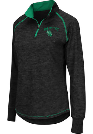 Colosseum North Texas Mean Green Womens Bikram Grey 1/4 Zip Pullover