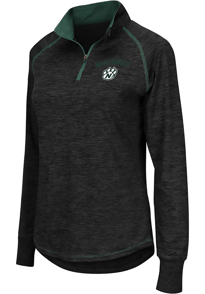 Colosseum Northwest Mo State Bearcats Womens Grey Bikram 1/4 Zip Pullover - Image 1