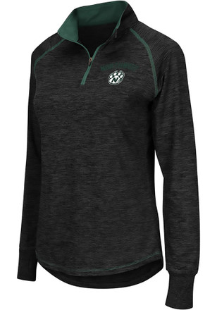Colosseum Northwest Missouri State Bearcats Womens Bikram Grey 1/4 Zip Pullover