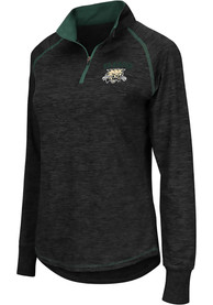 Ohio Bobcats Womens Colosseum Bikram 1/4 Zip - Charcoal
