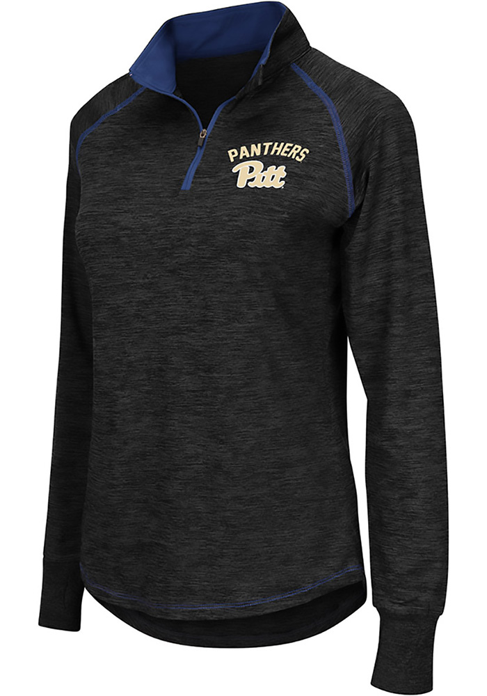 Colosseum Panthers Womens Charcoal Bikram 1/4 Zip Pullover - Image 1