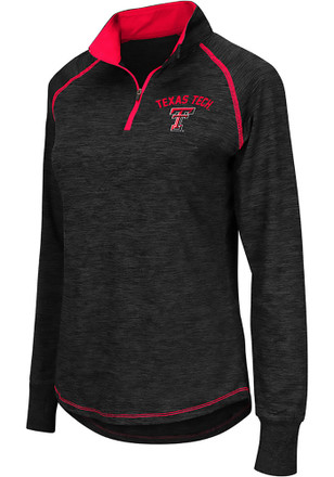 Colosseum Texas Tech Red Raiders Womens Bikram Grey 1/4 Zip Pullover