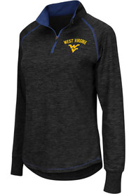 West Virginia Mountaineers Womens Colosseum Bikram 1/4 Zip - Charcoal