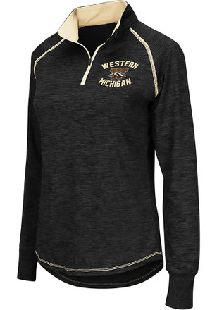 Colosseum Western Michigan Broncos Womens Bikram Grey 1/4 Zip Pullover