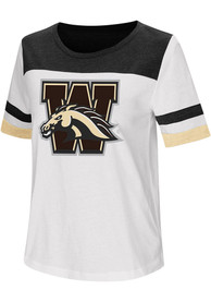 Colosseum Western Michigan Broncos Womens White Show Me The Money T-Shirt
