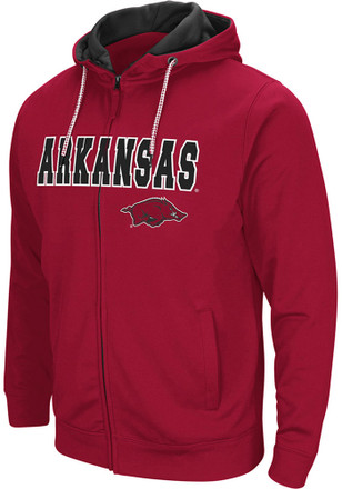 Colosseum Arkansas Razorbacks Mens Cardinal Classic Full Zip Jacket