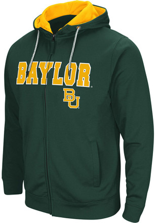 Colosseum Baylor Bears Mens Green Classic Full Zip Jacket