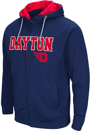Colosseum Dayton Flyers Mens Navy Blue Classic Full Zip Jacket