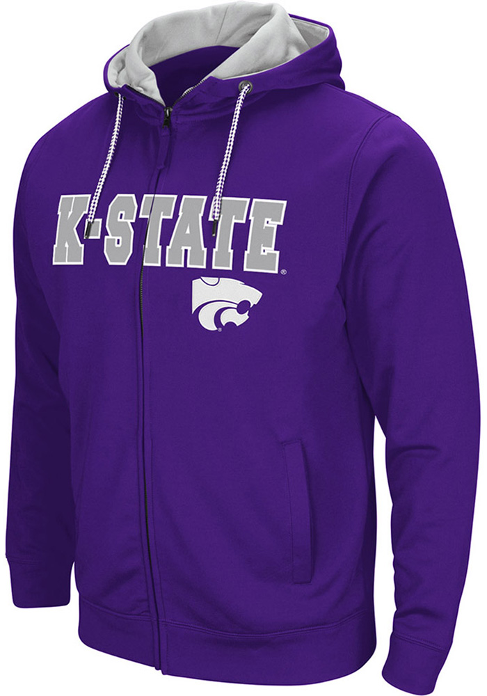 Colosseum K-State Wildcats Mens Purple Classic Long Sleeve Full Zip Jacket - Image 1