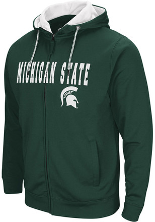 Colosseum Michigan State Spartans Mens Green Classic Full Zip Jacket