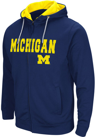 Colosseum Michigan Wolverines Mens Navy Blue Classic Full Zip Jacket