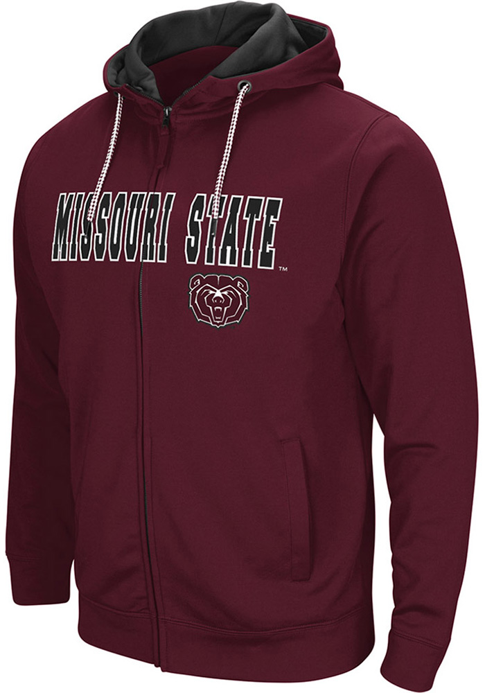 Colosseum Missouri State Bears Mens Maroon Classic Full Zip Jacket