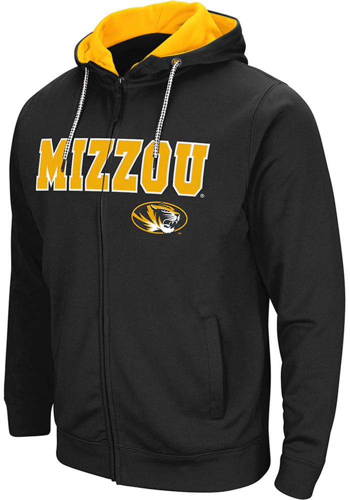 Colosseum Missouri Tigers Mens Black Classic Long Sleeve Full Zip Jacket - Image 1