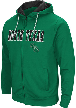 Colosseum North Texas Mean Green Mens Green Classic Full Zip Jacket