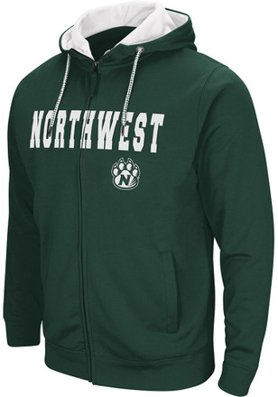 Colosseum Northwest Missouri State Bearcats Mens Green Classic Full Zip Jacket