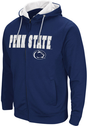 Colosseum Penn State Nittany Lions Mens Navy Blue Classic Full Zip Jacket