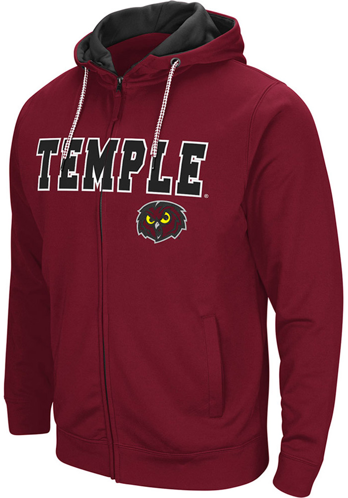 Colosseum Temple Owls Maroon Classic Full Zip Jacket 2258379a0