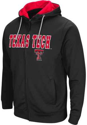 Colosseum Texas Tech Red Raiders Mens Black Classic Full Zip Jacket