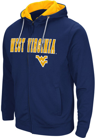 Colosseum West Virginia Mountaineers Mens Navy Blue Classic Full Zip Jacket