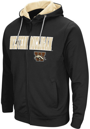 Colosseum Western Michigan Broncos Mens Black Classic Full Zip Jacket