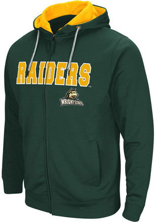 Colosseum Wright State Raiders Mens Green Classic Full Zip Jacket